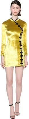 De La Vali CHINOIS VELVET MINI DRESS