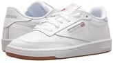 Reebok Club C 85 (White/Light Grey/Gum) Men's Shoes