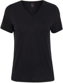 Ichi Black Luna V Neck T Shirt - S - Black