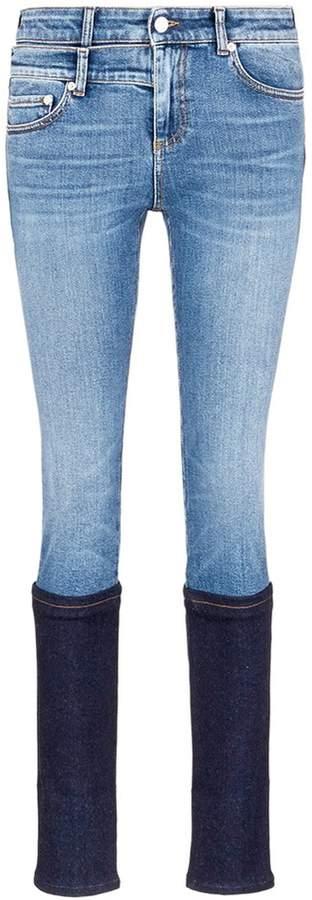 Alexander McQueen Two-tone cuffed jeans