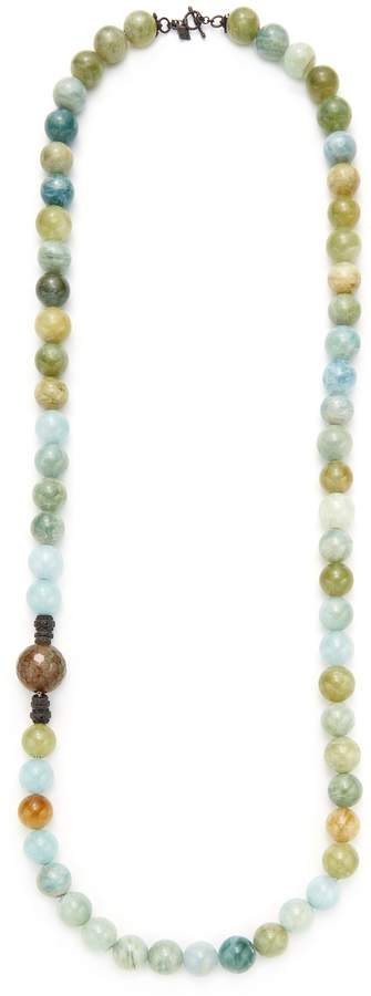 Armenta Women's Aquamarine & Agate Large Bead Necklace