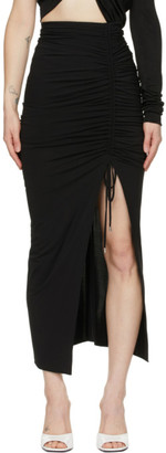 ATTICO Black Jersey Slit Skirt