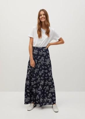 MANGO Printed midi skirt
