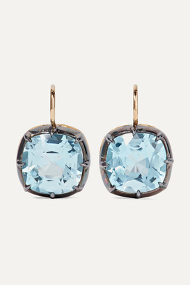 Fred Leighton Collection 18-karat Gold, Silver And Topaz Earrings