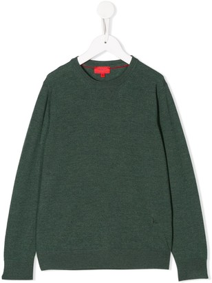 Isaia Kids Crew-Neck Jumper