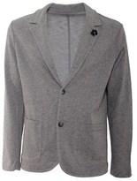 Daniele Fiesoli Men's Grey Cotton Blazer.