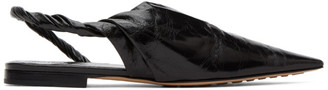 Bottega Veneta Black Nappa Slingback Ballerina Flats