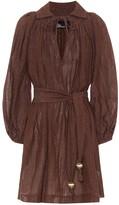 Lisa Marie Fernandez Metallic linen-blend minidress