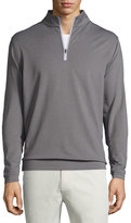 Peter Millar Perth Melange Quarter-Zip Pullover Sweater, Smoke