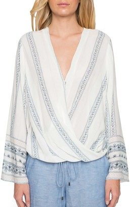 Willow & Clay Wrap Front Blouse