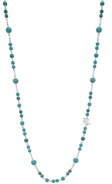 Ralph Lauren Ralph Logo Charm Beaded Strand Necklace, 42