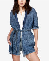 Lucky Brand Quilted Denim Kimono Jacket