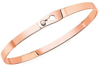 Dinh Van Serrure Ruban 18K Rose Gold & Diamond Bangle Bracelet