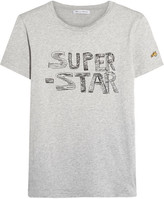 Bella Freud Super Star Printed Cotton-jersey T-shirt - Gray