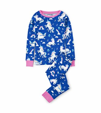 Hatley Little Blue House Girl's Long Sleeve Pyjama Sets
