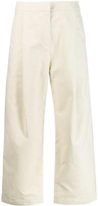 Sara Lanzi Cropped Wide-Leg Trousers