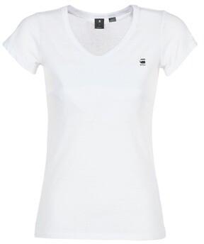G Star Raw EYBEN SLIM V T WMN S/S women's T shirt in White