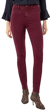 Liverpool Los Angeles Abby High-Rise Skinny Jeans in Oxblood