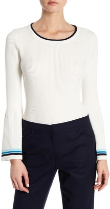 Nanette Nanette Lepore Bell Sleeve Rib Sweater