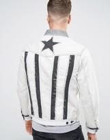 Diesel D-illie Denim Star Embroidered Jacket