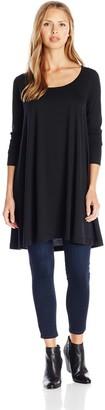 Joan Vass Women's Long Sleeve Scoop Neck Tunic