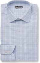 Tom Ford - Blue Slim-fit Checked Cotton Shirt