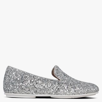 FitFlop Leana Silver Glitter Loafers