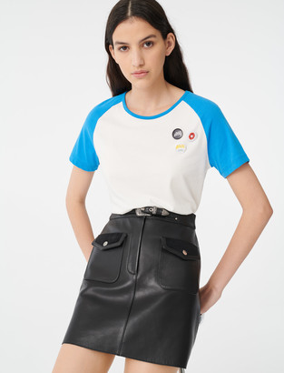 Maje T-shirt with contrasting sleeves