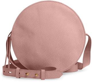Madewell The Simple Circle Nubuck Leather Crossbody Bag