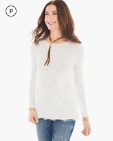 Chico's Lace-Detail Lena Pullover