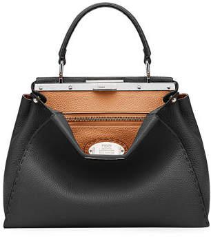 336d594ddc30 Fendi Peekaboo Medium Leather Satchel Bag