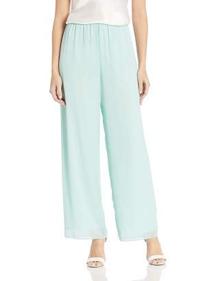 Alex Evenings Women's Asymmetric Chiffon Blouse and Dress Pants (Petite Regular)