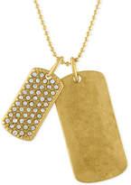Rachel Roy Gold-Tone Double Dog Tag Pendant Necklace