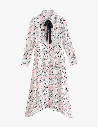 Claudie Pierlot Rolfo graphic-print crepe midi dress