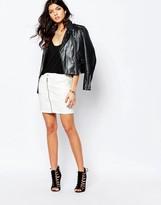 G Star G-Star Lynn Zip Front Denim Skirt