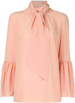 Fendi pussy bow flared sleeve blouse - women - Silk - 40