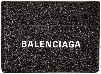 Balenciaga Everyday Glitter Leather Card Holder