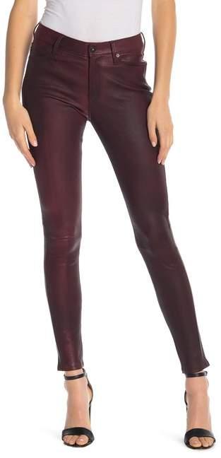 AG Jeans Farrah High Rise Leather Skinny Jeans