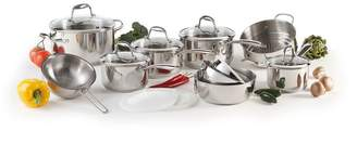 Lagostina Ambiente 15-Piece Stainless Steel Cookware Set - Induction Ready