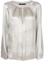 Max Mara chain fastening pleat blouse