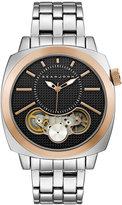 Sean John Men's Downing Silver-Tone Bracelet Watch 46x46mm