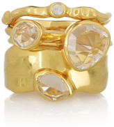 Monica Vinader Set of 4 gold-plated sterling silver stacking rings