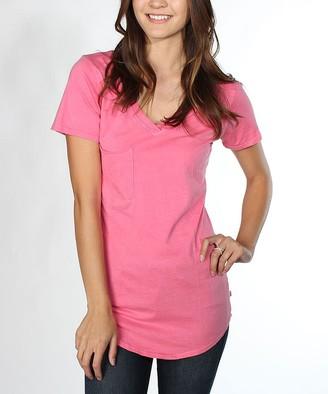 Blush B-Lush Venley Women's Tee Shirts Blush - Blush Molly Slouch-Pocket V-Neck Tee - Women