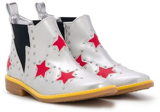 Stella Mccartney Kids Star Print Ankle Boots