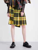 Junya Watanabe Tartan wool midi skirt