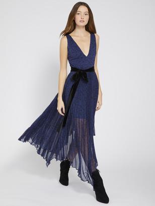 Alice + Olivia Aiden Asymmetrical Midi Dress