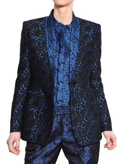 Stella McCartney Wool Brocade Jacquard Jacket