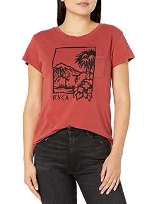 RVCA Junior's LINOPALM Short Sleeve Crew Neck T-Shirt