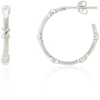 Auree Jewellery Deia Piccolo Sterling Silver Kiss Hoop Earrings