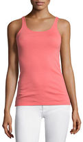 Eileen Fisher Scoop-Neck Cotton Tank, Oregano